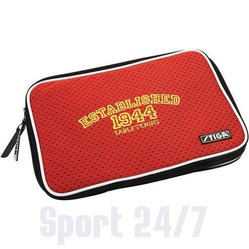 Чехол прямоугольный на 2 ракетки Stiga Competition Maxi (красный)