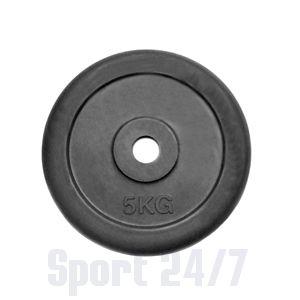 Диск 5 кг.обрезиненный «JOHNS» (71019-5В/26) d-26 мм.,цвет черный