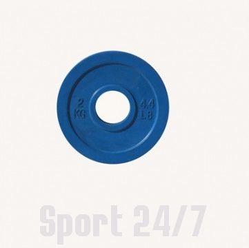 Диск цветной обрезиненный Johns (DR71025 OP) 2кг (Д-51-мм)