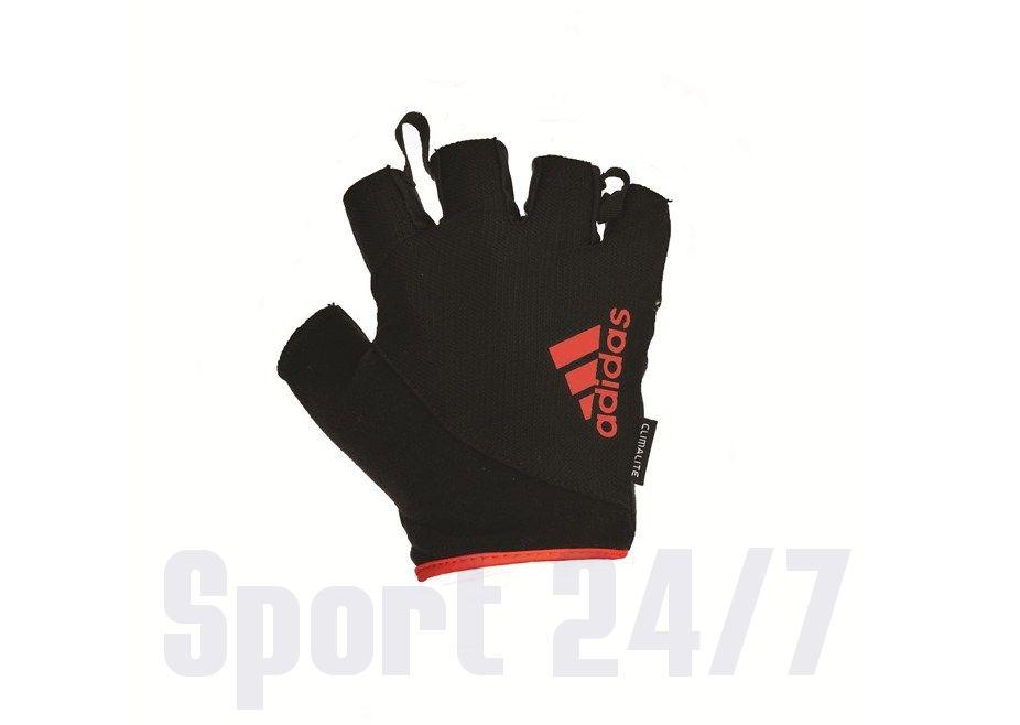 Перчатки для фитнеса ADIDAS ADGB-12321RD(черный/красный)