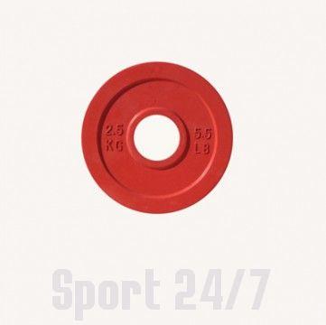Диск цветной обрезиненный Johns (DR71025 OP) 2,5кг (Д-51-мм)