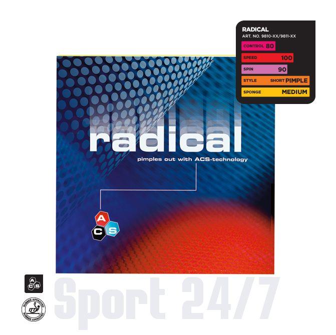 Накладка Stiga  Radical (короткие шипы)