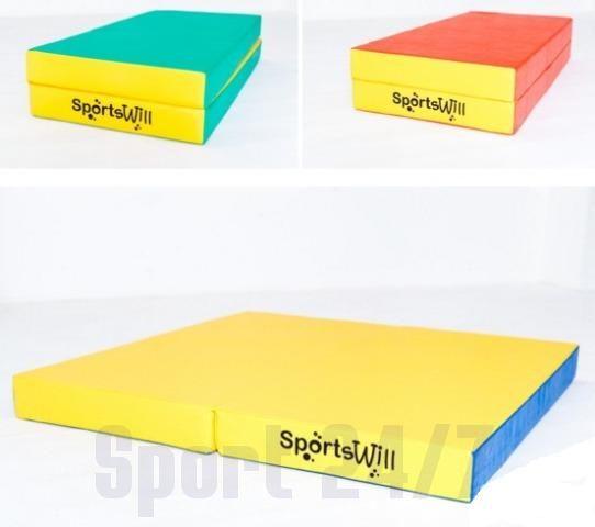 Спортивный (гимнастический) мат складной SportsWill (100 х 100 х 10) spswm2