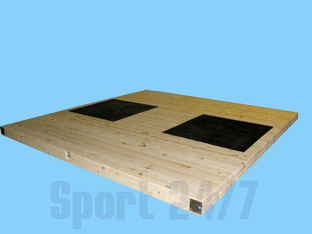 Помост тяжелоатлетический РФП-Т2 тренировочно-разминочный (Размером 3м х 3м х 5см.)