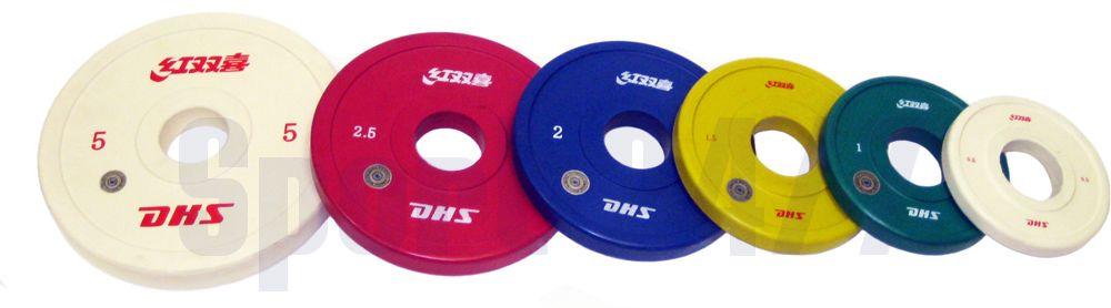 Диск обрезиненный DHS Olympic 0,5кг (Д-51-мм)