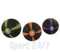 Медицинский мяч 1 кг, черный с оранжевым Fitex Pro