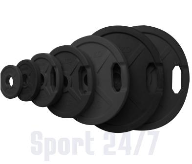 Диск 5 кг. обрезиненный «JOHNS» (71022B) d – 51 мм., с ручками,цвет черный