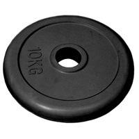 Диск 10 кг.обрезиненный «JOHNS» (71019-10В/26) d-26 мм.,цвет черный
