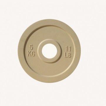 Диск цветной обрезиненный Johns (DR71025 OP) 5кг (Д-51-мм)