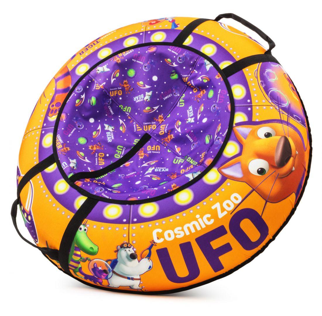 Надувные санки-ватрушка (тюбинг) ТИГРЁНОК (оранжевый) Cosmic Zoo UFO 472063