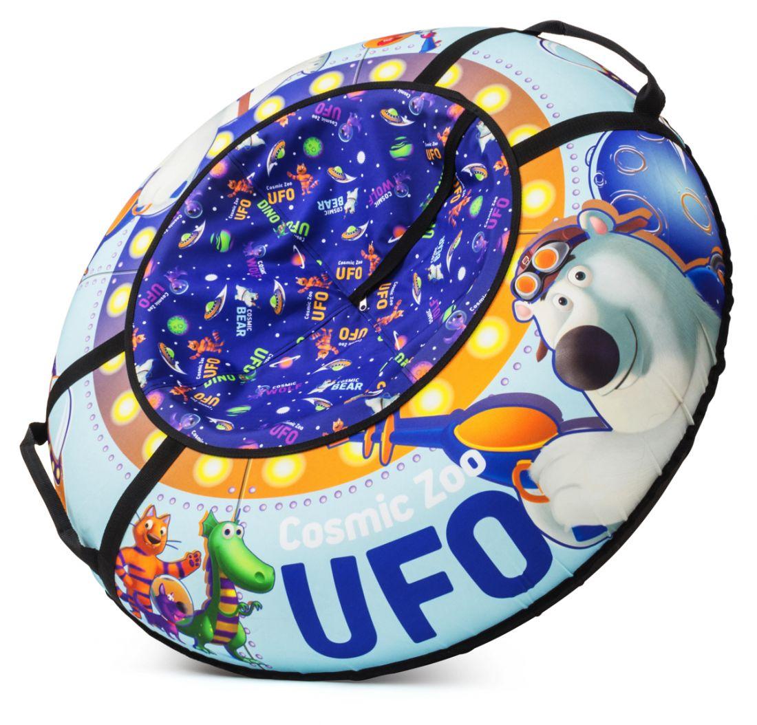 Надувные санки-ватрушка (тюбинг) МЕДВЕЖОНОК (небесно-голубой) Cosmic Zoo UFO 472063