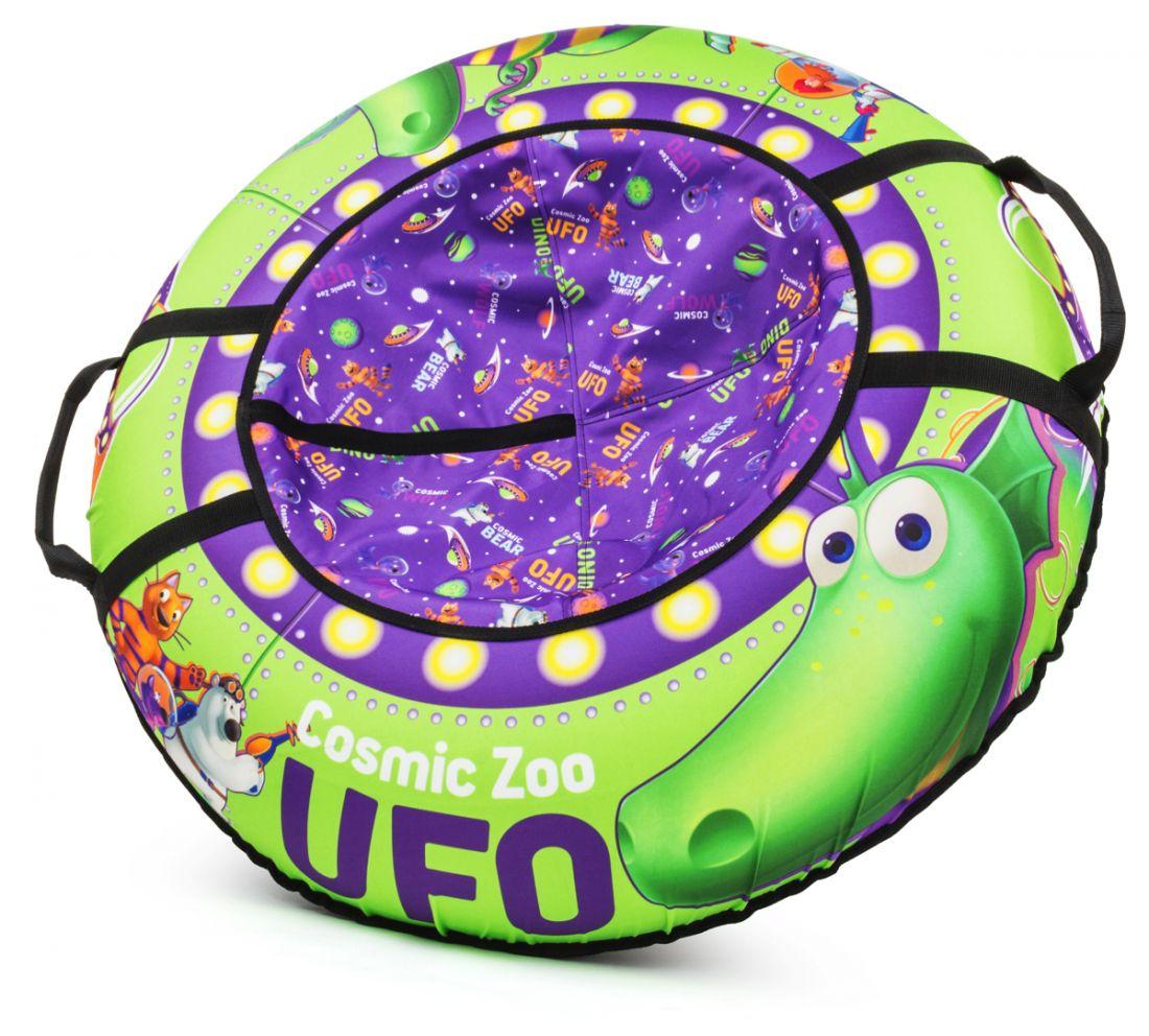 Надувные санки-ватрушка (тюбинг) ДИНОЗАВРИК (зеленый) Cosmic Zoo UFO 472063