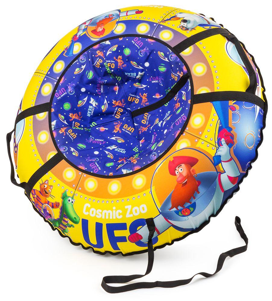 Надувные санки-ватрушка (тюбинг) КАПИТАН КЛЮКВА (желтый) Cosmic Zoo UFO 472063