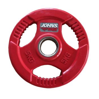 Диск 5 кг. обрезиненный JOHNS (91010-5 C), цвет красный