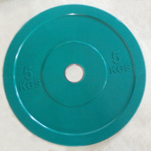 Диск 5 кг обрезиненный JOHNS (APOLO) отверстие d - 51 мм., цвет зеленый