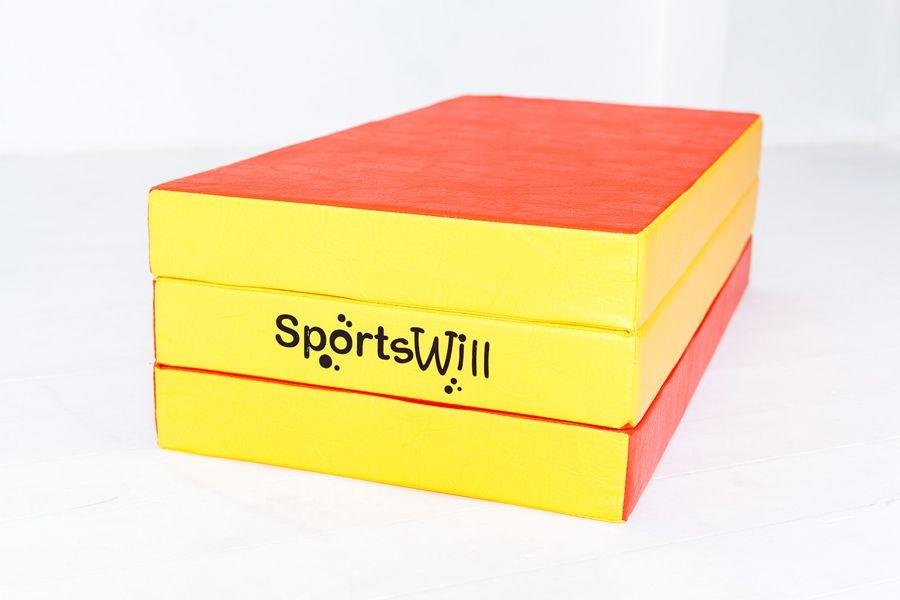 Гимнастический (спортивный) мат SportsWill складной (150 х 100 х 10) spswm3