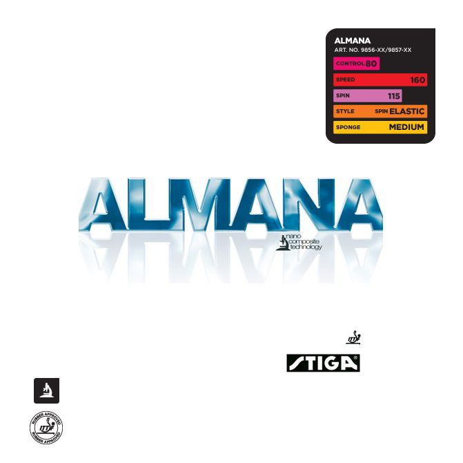 Накладка Stiga  Almana
