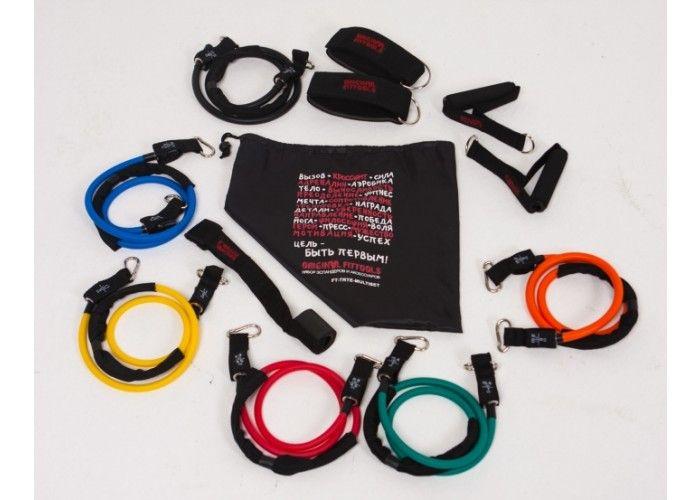 Набор эспандеров трубчатых (6 шт.) и аксессуаров в сумке Original Fit.Tools  FT-TRTE-MULTISET