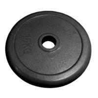 Диск 15 кг.обрезиненный «JOHNS» (71019-15В/26) d-26 мм.,цвет черный