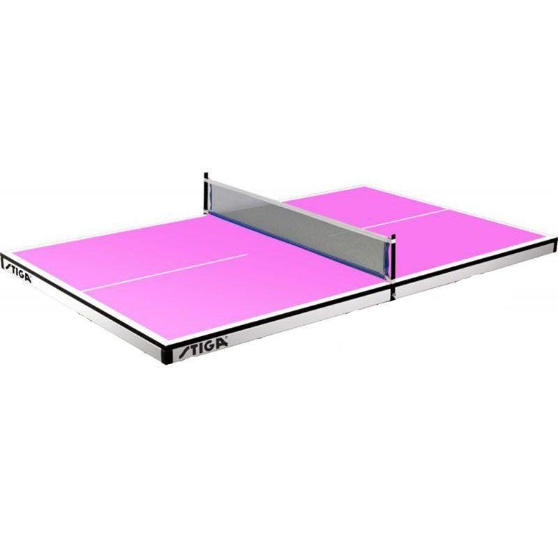 Теннисный стол Stiga Pure Super Mini (розовый) с сеткой ST-7159