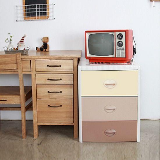 Детский комод для хранения 3-х секционный Haenim toys HN7-303S Sweety Brown(малый)