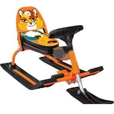 Снегокат Барс Comfort Animals Лиса (оранжевый)