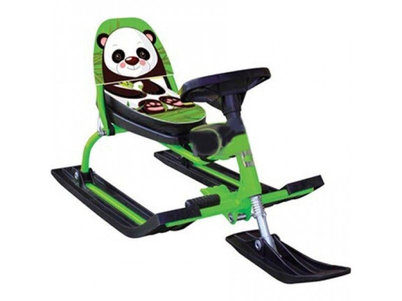 Снегокат Барс Comfort Animals Панда (зеленый)