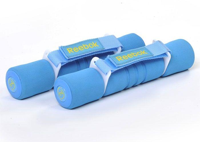 Гантель с мягкими накладками  REEBOK 2,0кг. артRAWT-11062CY(голубой)