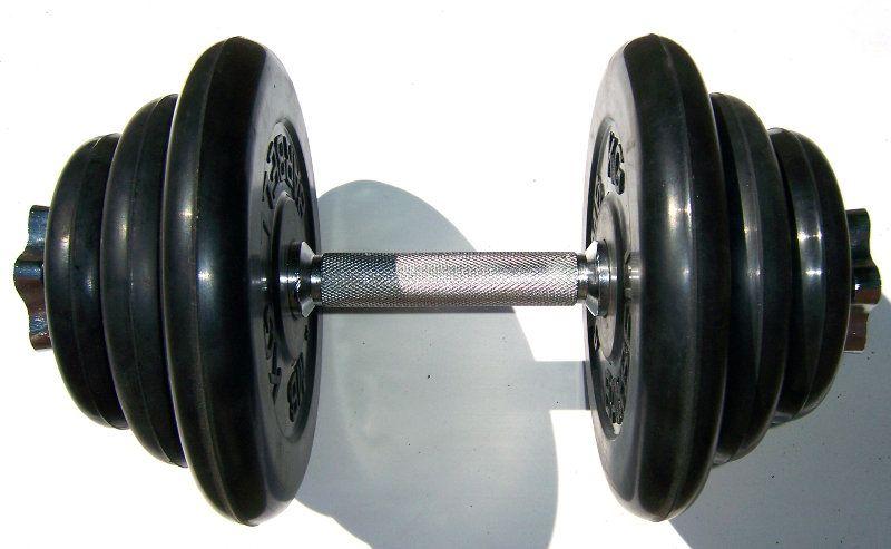 Гантель разборная 19 кг , гриф L-36см ( SDA ) 1шт 001006ss