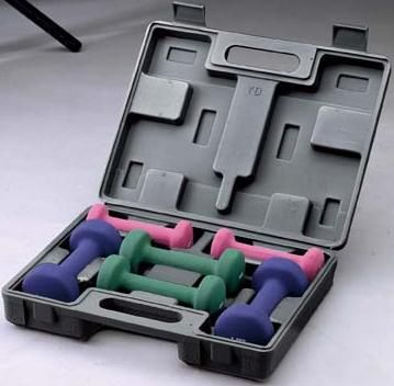 Набор гантелей неопреновых, в пластиковом кейсе [BW-3306]