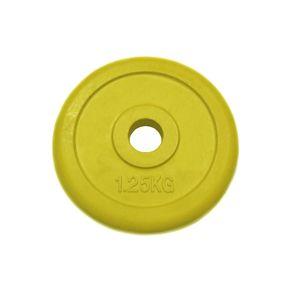 Диск 15 кг.обрезиненный «JOHNS» (71019-15C/26) d-26 мм.,цвет желтый