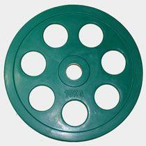 "Олимпийский диск евро-классик с хватом ""Ромашка"" Oxygen, 10 кг."