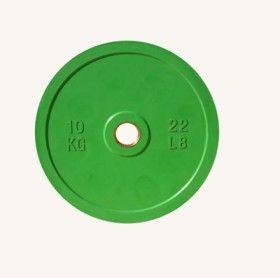 Диск цветной обрезиненный Johns (DR71025 OP) 10кг (Д-51-мм)