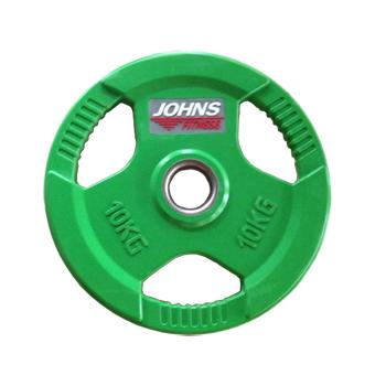 Диск 10 кг. обрезиненный JOHNS (91010-10 C), цвет зеленый