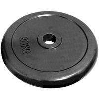 Диск 25 кг.обрезиненный «JOHNS» (71019-25В/26) d-26 мм.,цвет черный