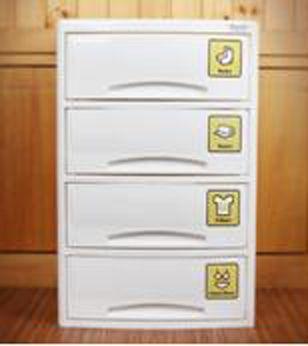 Детский комод для хранения 4-х секционный (средний) Haenim toys HN7-504 Baby Step(4)