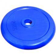 Диск 20 кг.обрезиненный «JOHNS» (71019-20C/26) d-26 мм.,цвет синий