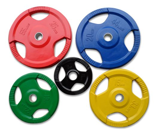Диск обрезиненный цветной (синий), D 51, 20 кг.RCP 02-20,0