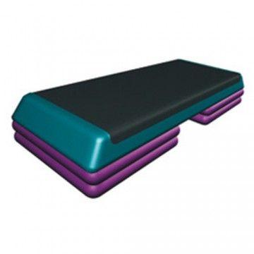 Степ-платформа 3 уровня высоты цветная FT-STP