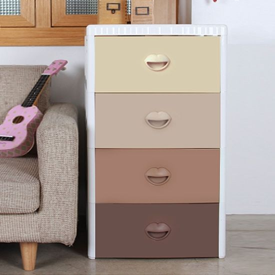 Детский комод для хранения 4-х секционный Haenim toys HN7-304M Sweety Brown(средний)