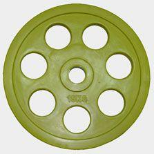 "Олимпийский диск евро-классик с хватом ""Ромашка"" Oxygen, 15 кг."