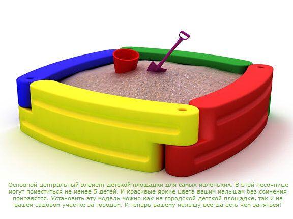 Детская пластиковая песочница 2KIDS (4 элемента)