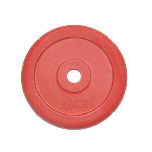 Диск 25 кг.обрезиненный «JOHNS» (71019-25C/26) d-26 мм.,цвет красный