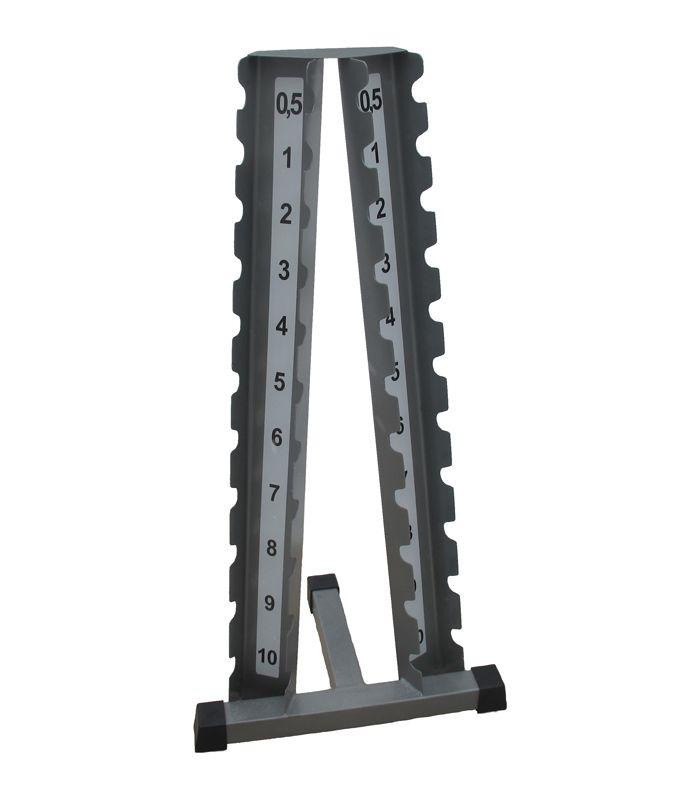 Тренажер - CT-403 стойка для гантелей хромированных( 0.5-10 кг ) V-sport