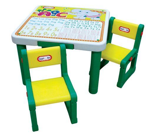 Стол и два стула. Алфавит и таблица умножения HAPPY BOX JM-807-1