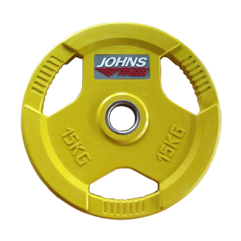 Диск 15 кг. обрезиненный JOHNS (91010-15 C), цвет желтый
