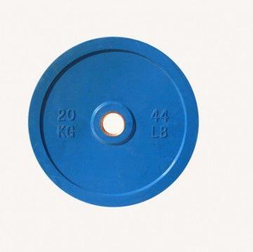 Диск цветной обрезиненный Johns (DR71025 OP) 20кг (Д-51-мм)