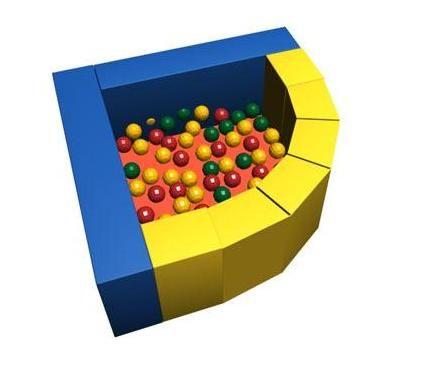 Сухой бассейн с шариками ROMANA «Фасолька» ДМФ-МК-09.48.00