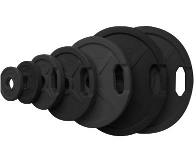 Диск 25 кг. обрезиненный «JOHNS» (71022B) d – 51 мм., с ручками,цвет черный