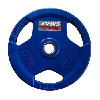 Диск 20 кг. обрезиненный JOHNS (91010-20 C), цвет синий